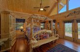 Master bedroom with King bed in 5 bedroom cabin