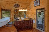 Cabin bathroom with luxurious bath tub