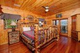 King bed in Master Suite at 5 bedroom cabin