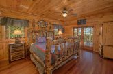 Private King bedroom with TV at 5 bedroom cabin