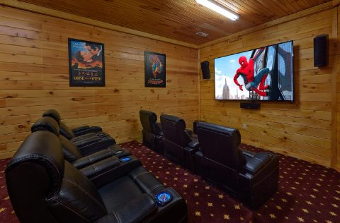 Luxurious Theater Room in 5 bedroom cabin rental - Majestic Peace