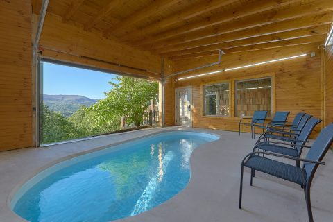 Private heated pool at 5 bedroom cabin - Majestic Peace