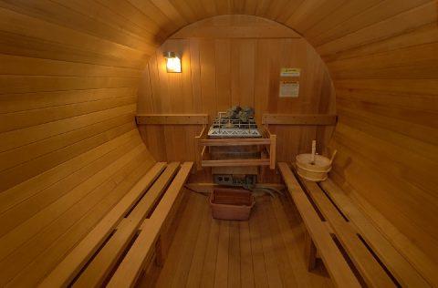 Heated Sauna at Luxurious 5 bedroom cabin rental - Majestic Peace