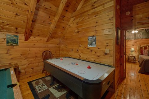 Game Room in Loft with Pool Table - Major Oaks