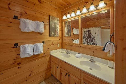 Lower Level Full Bathroom Sleeps 12 - Major Oaks