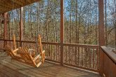 Pigeon Forge Cabin with Porch Swing Sleeps 12