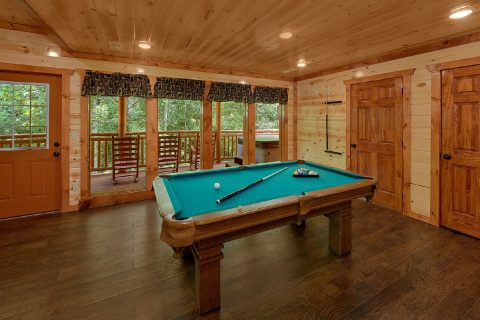 Game Room with Pool Table - Making Waves