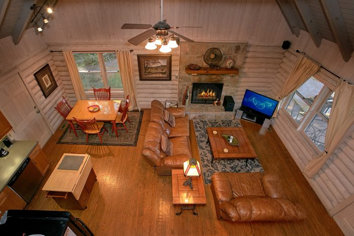 Rustic Cabin with a Stone Fireplace - Melody Hill