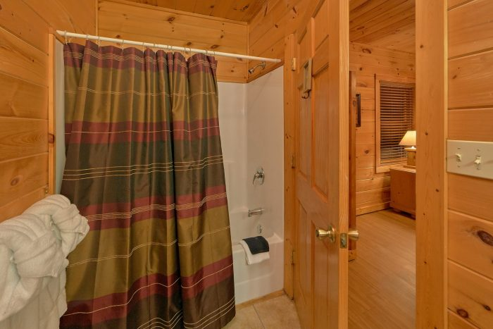 Private King bedroom with bath in rustic cabin - Memory Maker