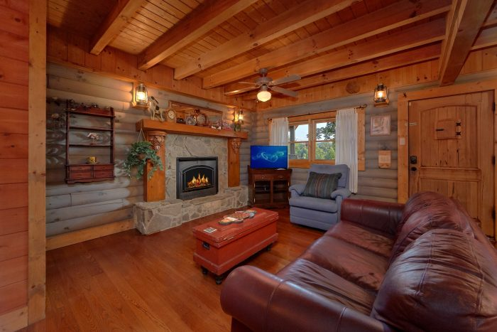 Rustic 1 Bedroom Cabin with Gas Fireplace - Merry Weather