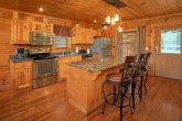 Cabin with granite counters and custom lighting