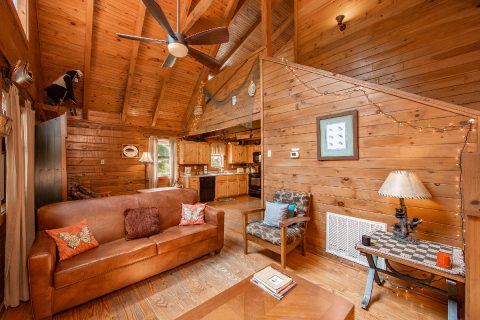 Spacious living room in Rustic 1 bedroom cabin - Moose Lake Lodge