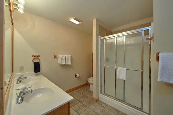 Cabin with a Stand-Up Shower and Large Vanity - Mountain Crest