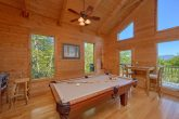 Cabin with Pool table, wooded views and arcade