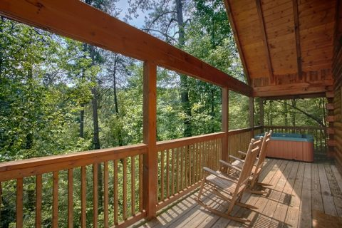 Honeymoon Cabin with Private Deck and view - Mountain Star