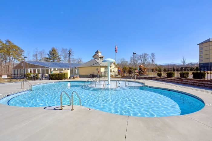 Outdoor Resort Swimming Pool with Waterfall - Mountain View 5102