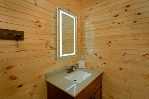 8 Bedroom Pool Cabin with LED Vanity Lighting - Mountain View Pool Lodge