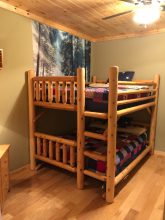 5 Bedroom Cabin with Bunk Bed Room for Kids