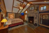 King Bedroom Cabin with Electric Fireplace