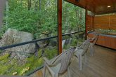 Screen in Porch with Chairs and Hot Tub