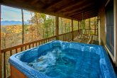 Private Hot tub on deck of 2 bedroom cabin