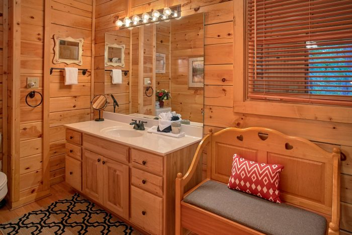 1 Bedroom Cabin with Main Level Master Bathroom - Our Happy Place