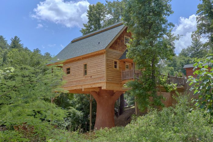 Treehouse Style Luxury Cabin in Pigeon Forge - Out On A Limb