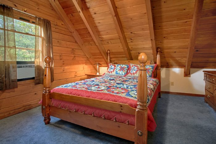 Cabin with Queen bedroom and Twin bed - Owl's Mountain View