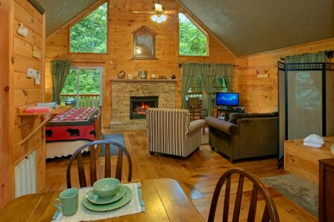 1 Bedroom Cabin with Stone Fireplace & King Bed - Passion Pointe