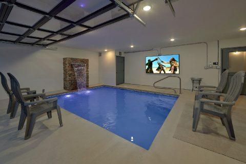 Fire Pit, Indoor Pool, Game Room 6 Bedroom Cabin - Patriots Point Retreat