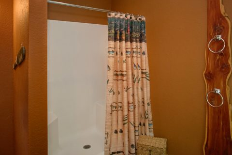 Full Bathroom with Shower - Pigeon Forge Hideaway