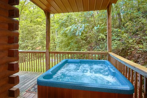 Private 2 Bedroom cabin with Private Hot Tub - Pigeon Forge Hideaway
