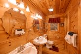 Luxurious Master bathroom in 2 bedroom cabin