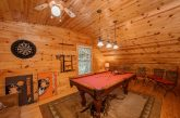 Resort Cabin with Pool Table in Game Room