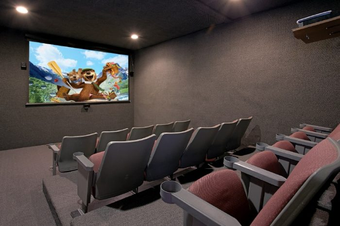 Theater Room in 6 Bedroom Cabin in Gatlinburg - Pool and a View Lodge