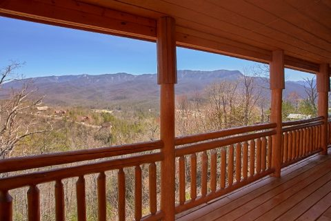 Views of Gatlinburg from deck of 6 Bedroom Cabin - Pool and a View Lodge