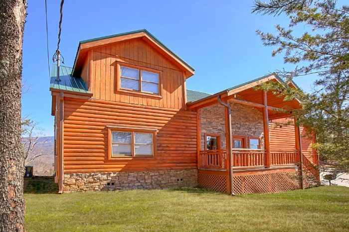 Cabin with Indoor Pool and Theater in Gatlinburg - Pool and a View Lodge