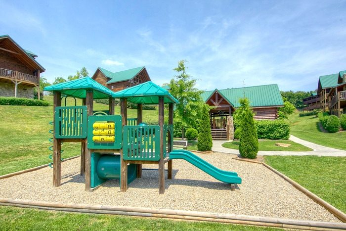 7 bedroom luxury cabin with playground and pool - Poolside Lodge