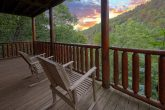Cabin with Wooded View from back deck