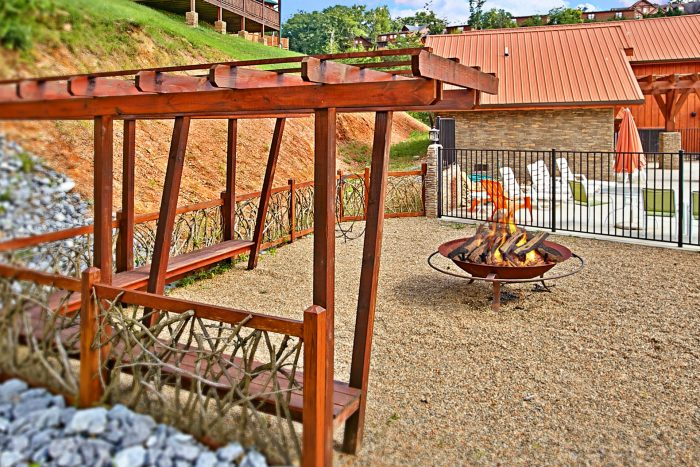 Cabin near Dollywood with a Resort Firepit - Rest Assured