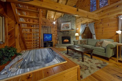 1 Bedroom Honeymoon Cabin Sleeps 2 - Restin Easy