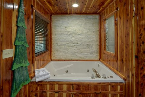 2 bedroom cabin with Private Jacuzzi Tub - River Edge