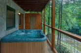 Premium Cabin with hot tub overlooking the river