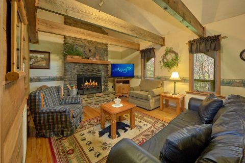 Spacious 2 Bedroom Cabin with Big Screen TV - River House
