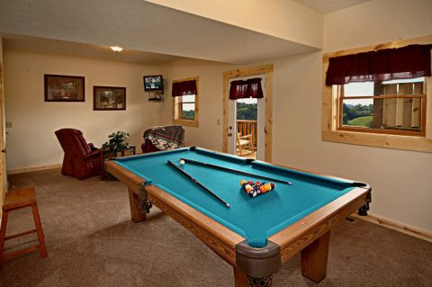 Pool Table in Den - Rocky Retreat