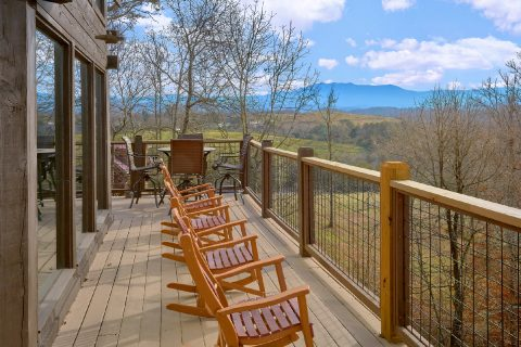 Mountain Views from 7 Bedroom Sevierville Cabin - Rocky Top Lodge