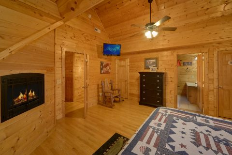 King Bedrooms that Feature Cozy Fireplaces - Rocky Top Lodge