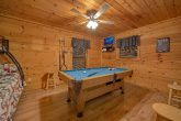 Gatlinburg cabin with Pool Table in Game Room