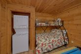 2 bedroom cabin with bunk beds and washer/dryer