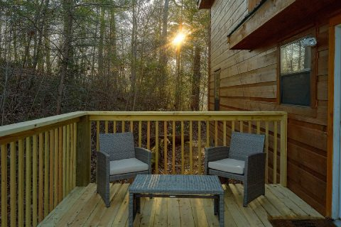 Rustic 2 bedroom cabin with wooded view - Running Creek